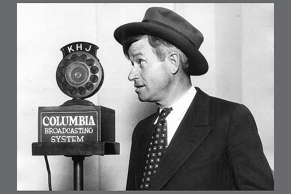 Will Rogers at the mike
